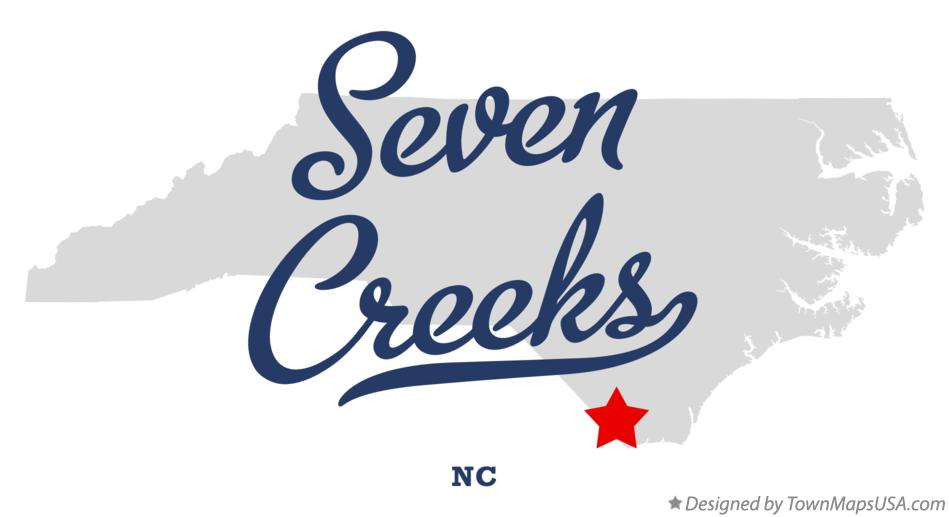 Map of Seven Creeks North Carolina NC