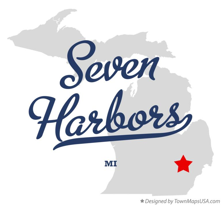 Map of Seven Harbors Michigan MI