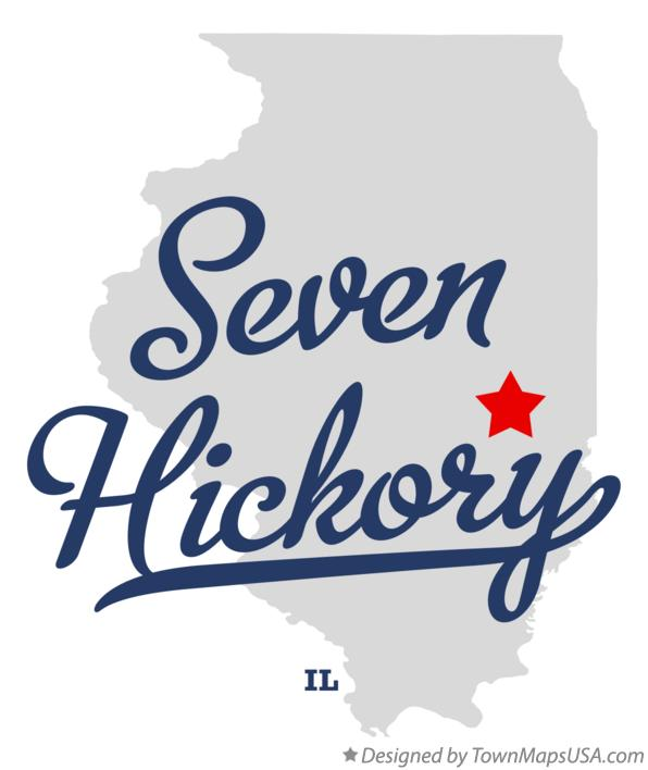 Map of Seven Hickory Illinois IL