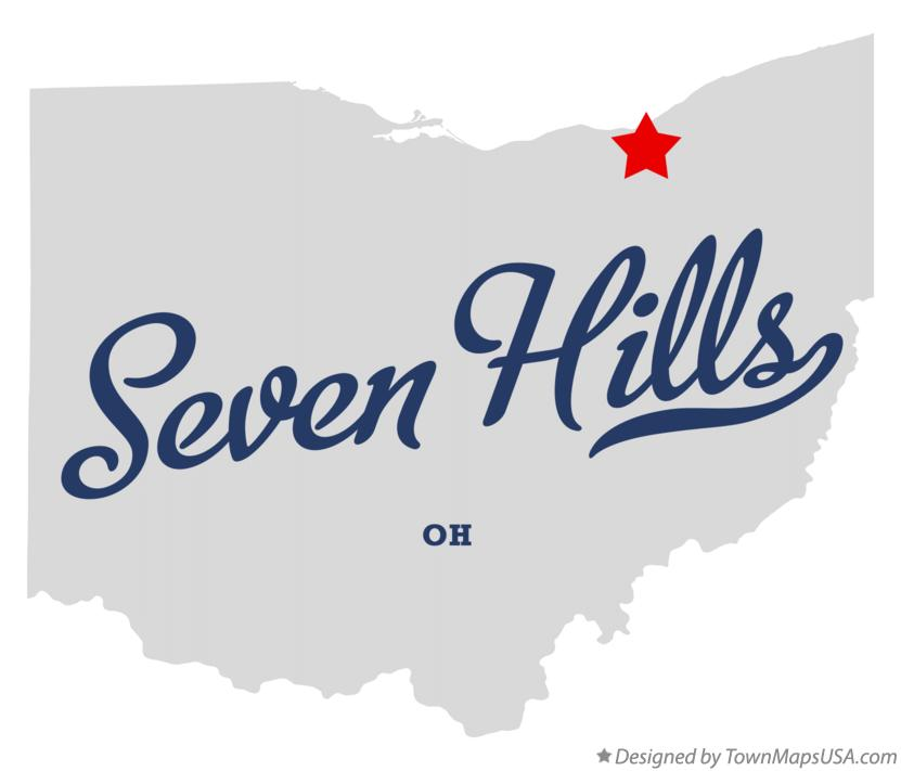 Map of Seven Hills Ohio OH