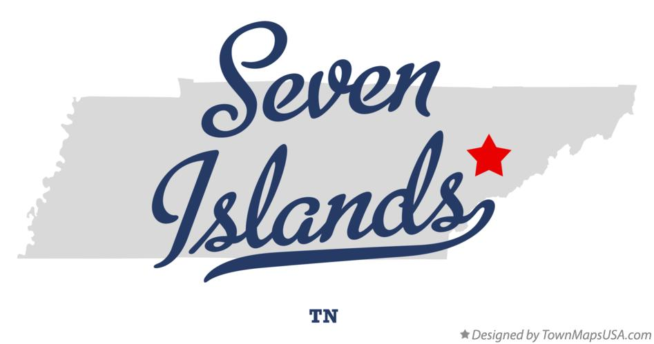 Map of Seven Islands Tennessee TN