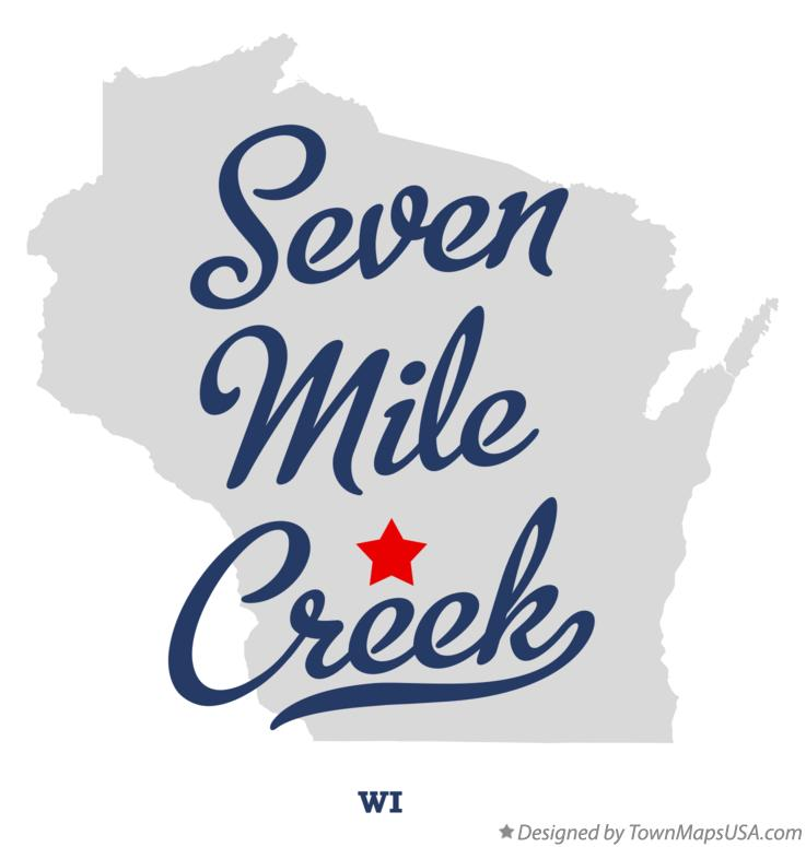 Map of Seven Mile Creek Wisconsin WI