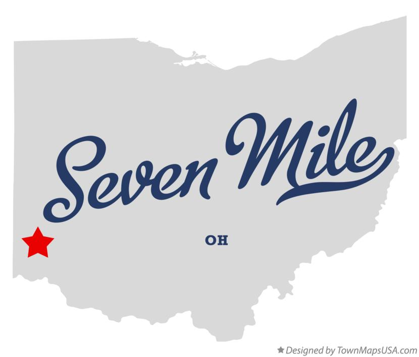 Map of Seven Mile Ohio OH