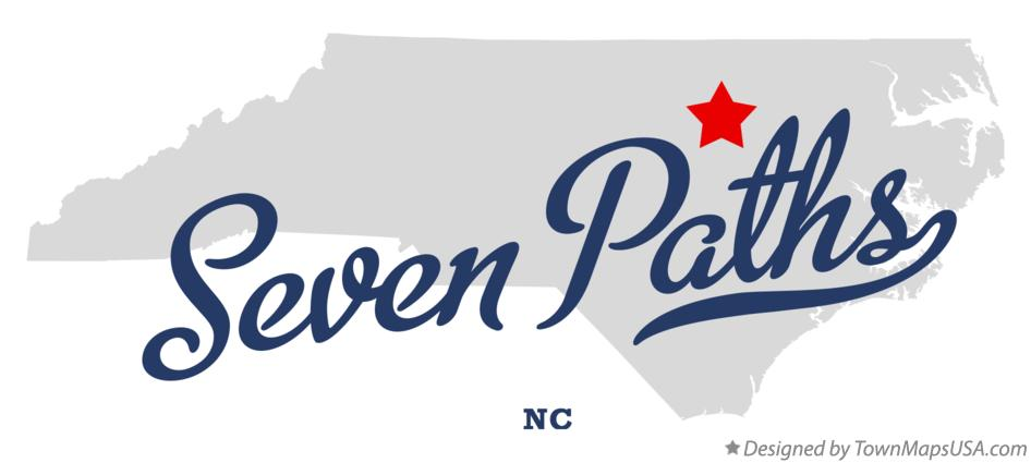Map of Seven Paths North Carolina NC