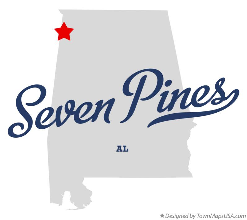 Map of Seven Pines Alabama AL
