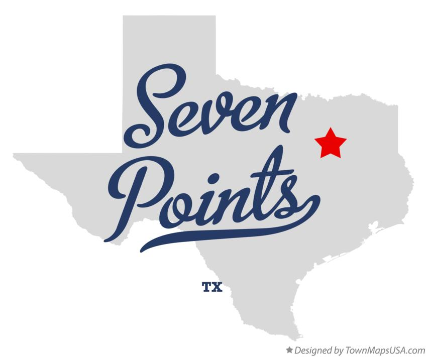 Map of Seven Points Texas TX