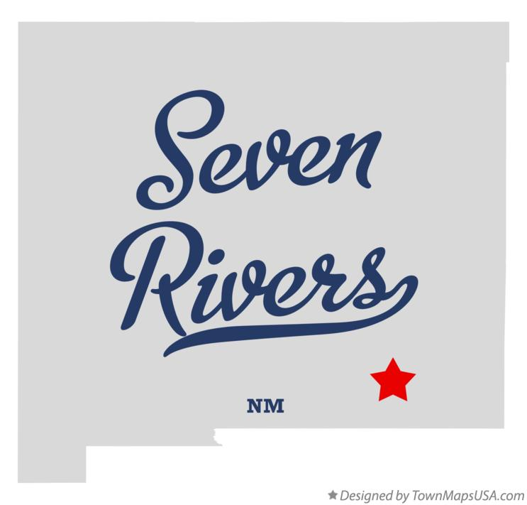Map of Seven Rivers New Mexico NM