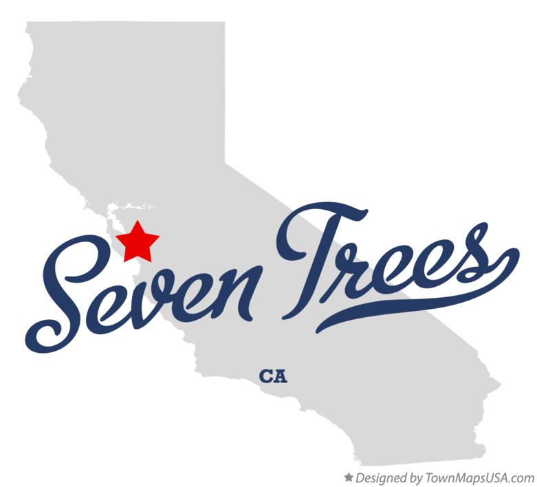 Map of Seven Trees California CA