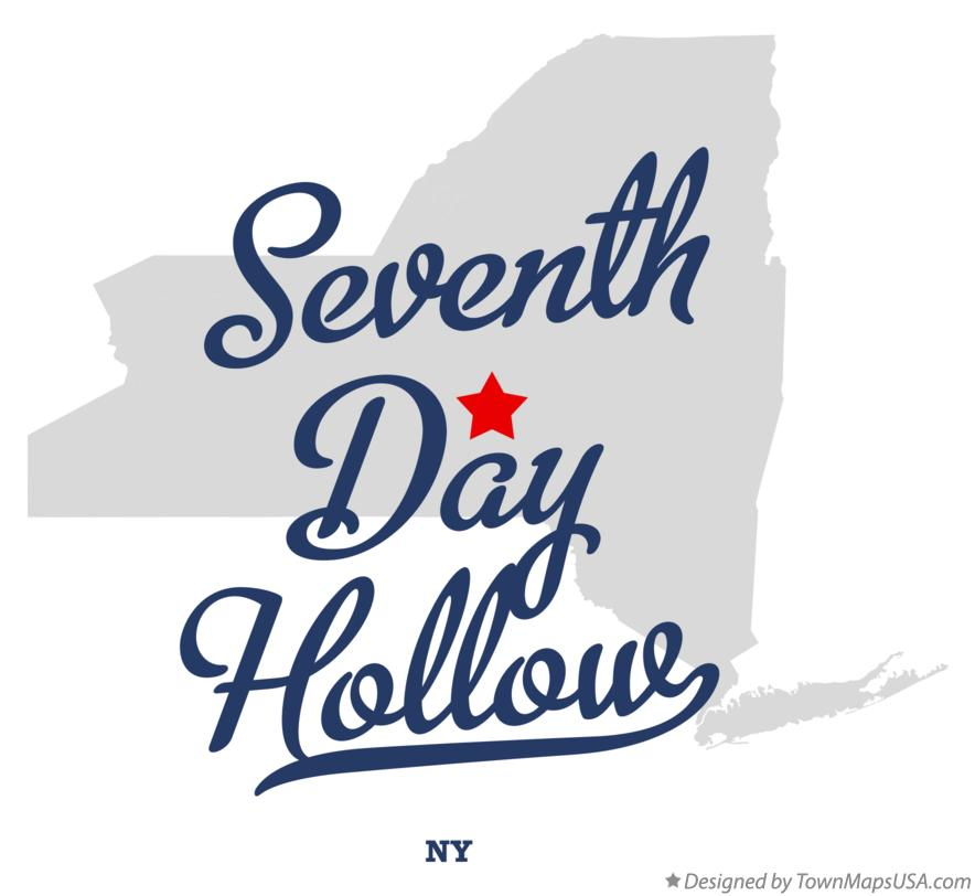 Map of Seventh Day Hollow New York NY