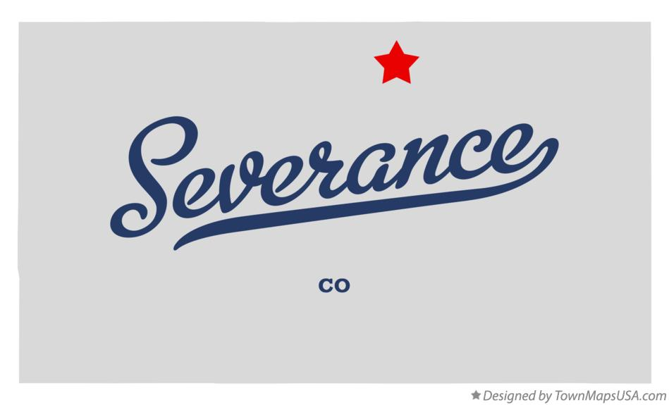 Map of Severance Colorado CO