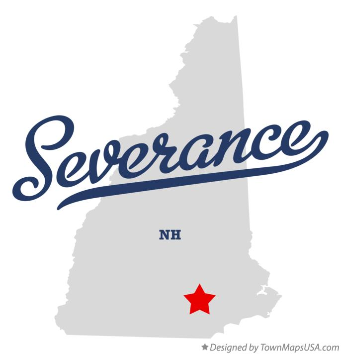 Map of Severance New Hampshire NH