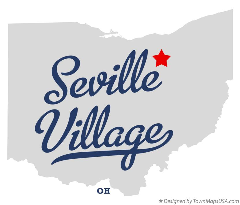 Map of Seville Village Ohio OH