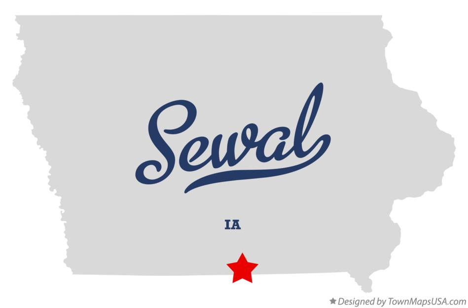 Map of Sewal Iowa IA