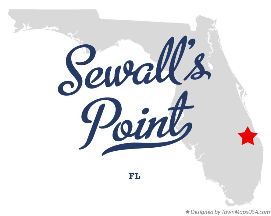 Map of Sewall's Point Florida FL