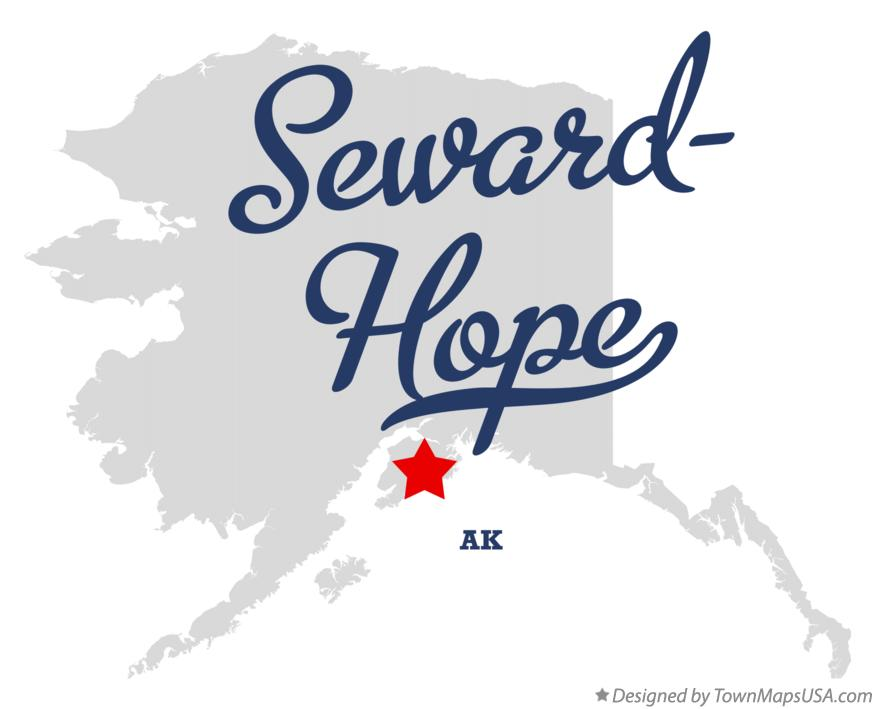 Map of Seward-Hope Alaska AK