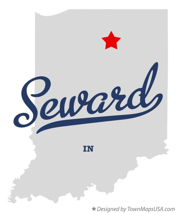 Map of Seward Indiana IN