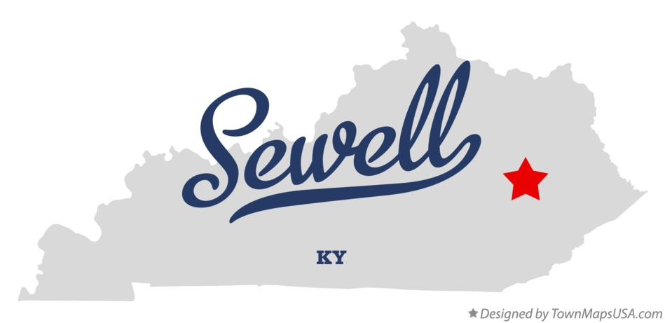 Map of Sewell Kentucky KY