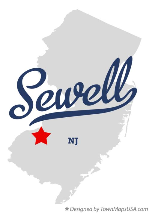 Map of Sewell New Jersey NJ