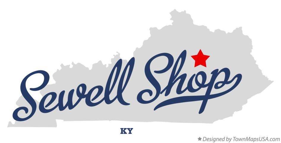 Map of Sewell Shop Kentucky KY