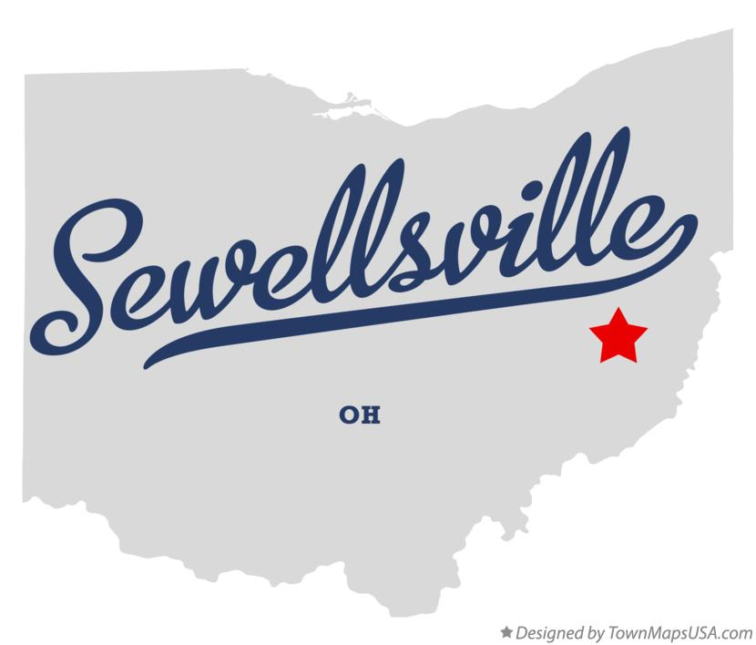 Map of Sewellsville Ohio OH