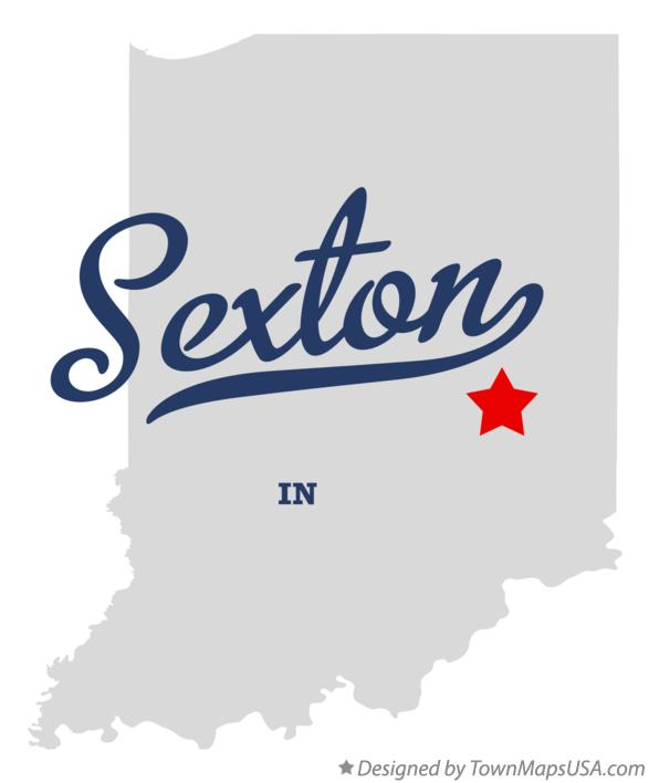 Map of Sexton Indiana IN