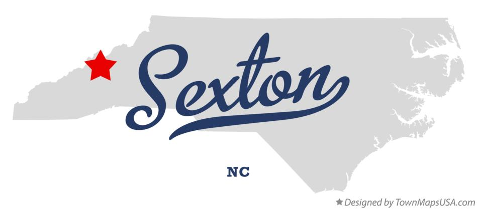 Map of Sexton North Carolina NC