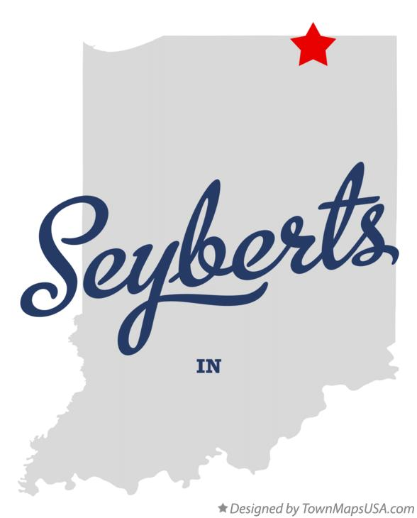 Map of Seyberts Indiana IN