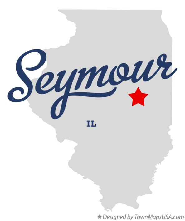 Map of Seymour Illinois IL