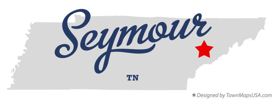 Map of Seymour Tennessee TN