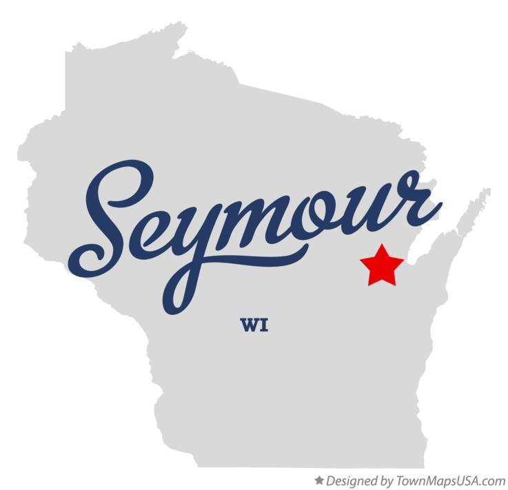 Map of Seymour Wisconsin WI