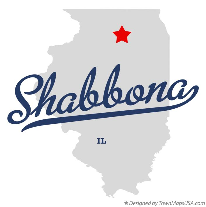 Map of Shabbona Illinois IL