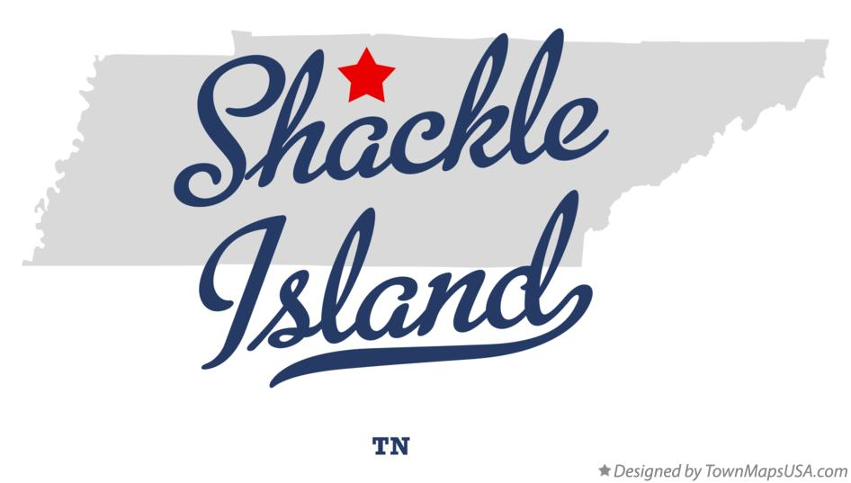 Map of Shackle Island Tennessee TN