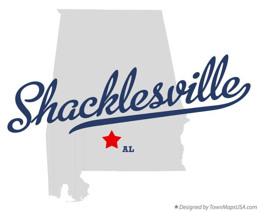 Map of Shacklesville Alabama AL