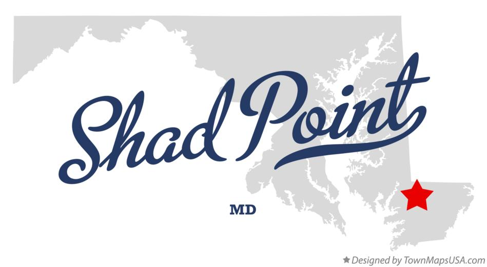 Map of Shad Point Maryland MD