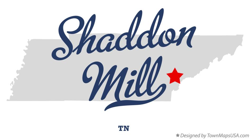 Map of Shaddon Mill Tennessee TN