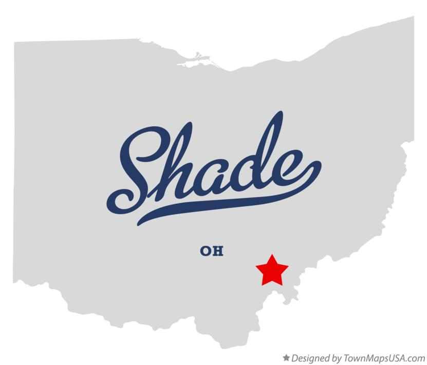 Map of Shade Ohio OH