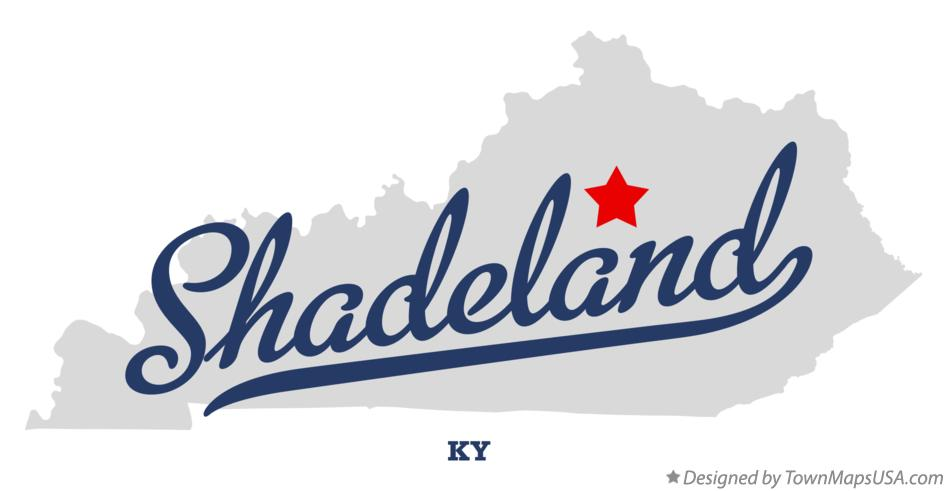 Map of Shadeland Kentucky KY