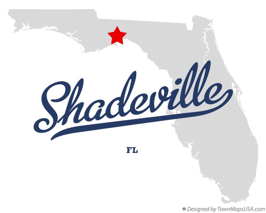 Map of Shadeville Florida FL
