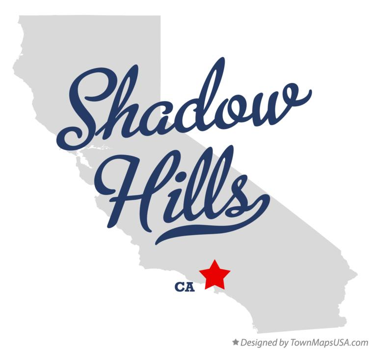 Map of Shadow Hills California CA