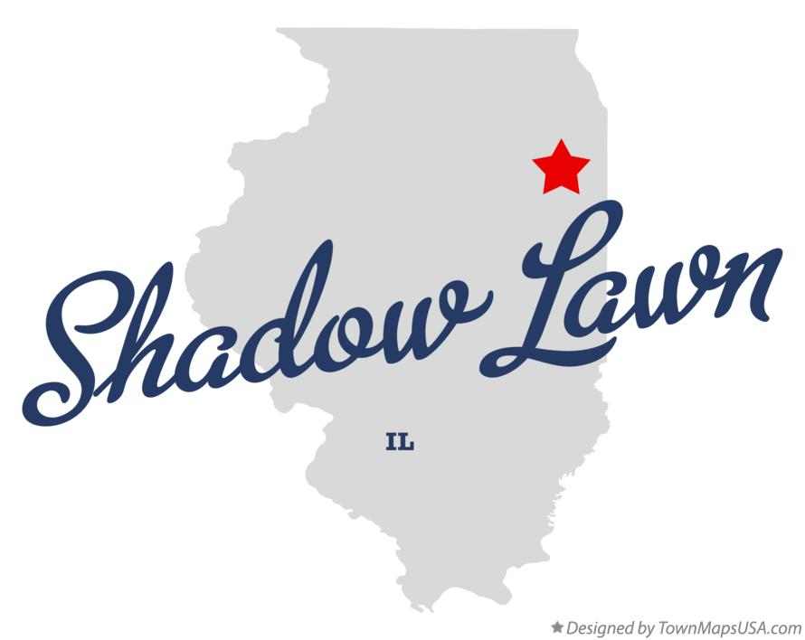 Map of Shadow Lawn Illinois IL
