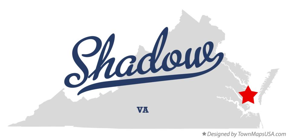 Map of Shadow Virginia VA