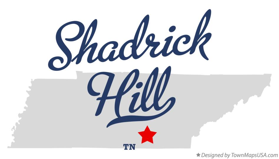 Map of Shadrick Hill Tennessee TN