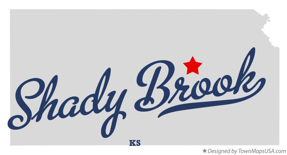Map of Shady Brook Kansas KS