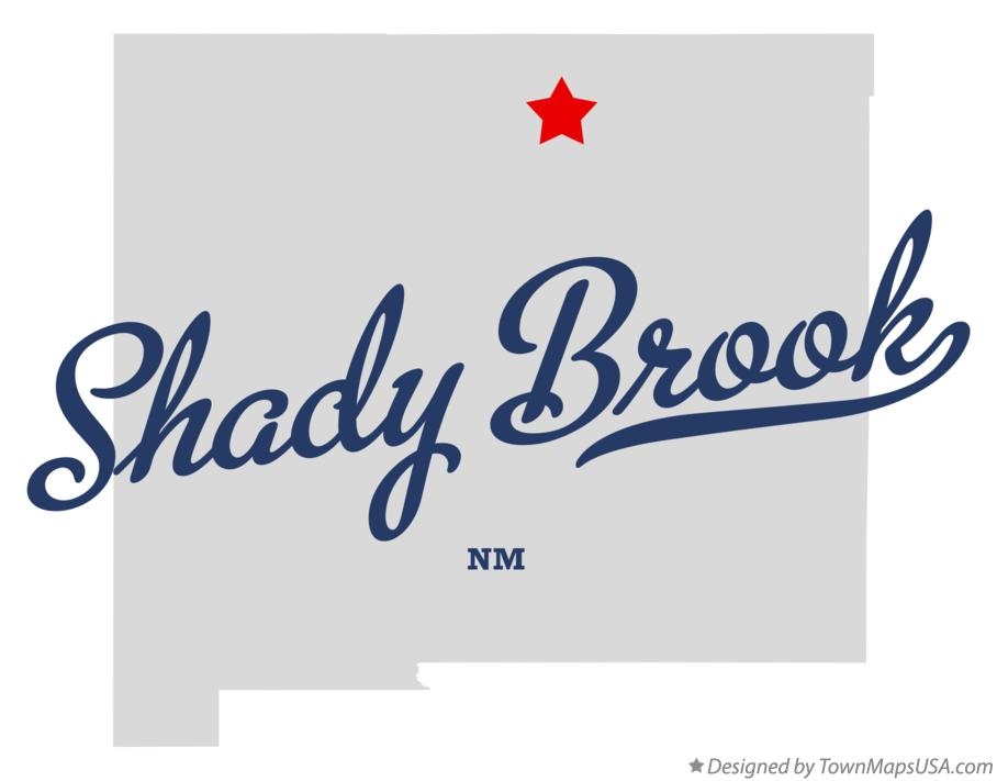Map of Shady Brook New Mexico NM