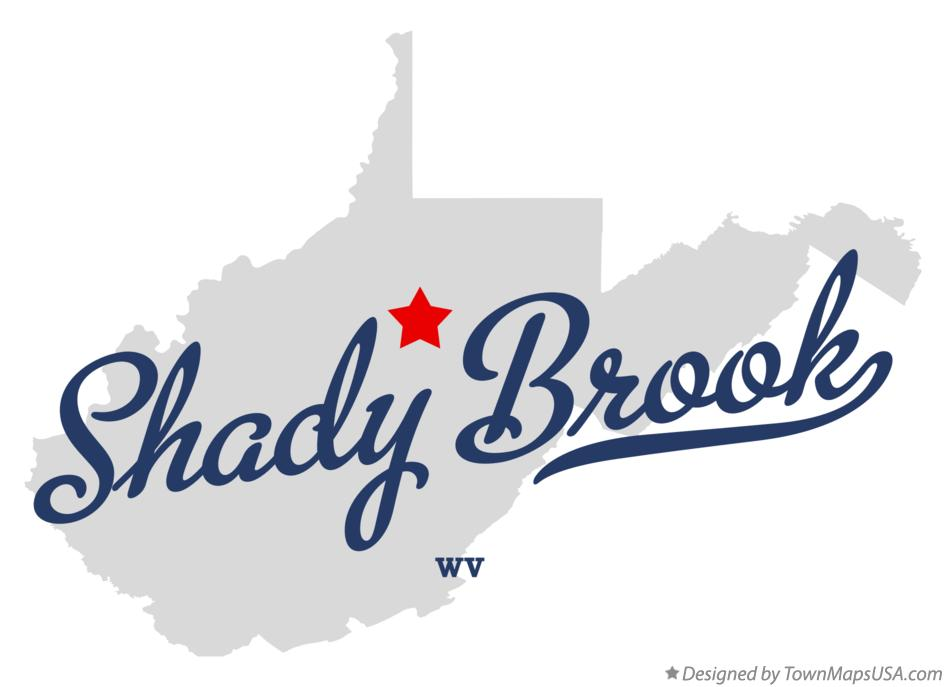 Map of Shady Brook West Virginia WV