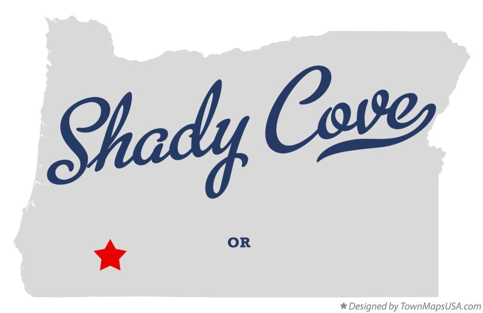 Map of Shady Cove Oregon OR