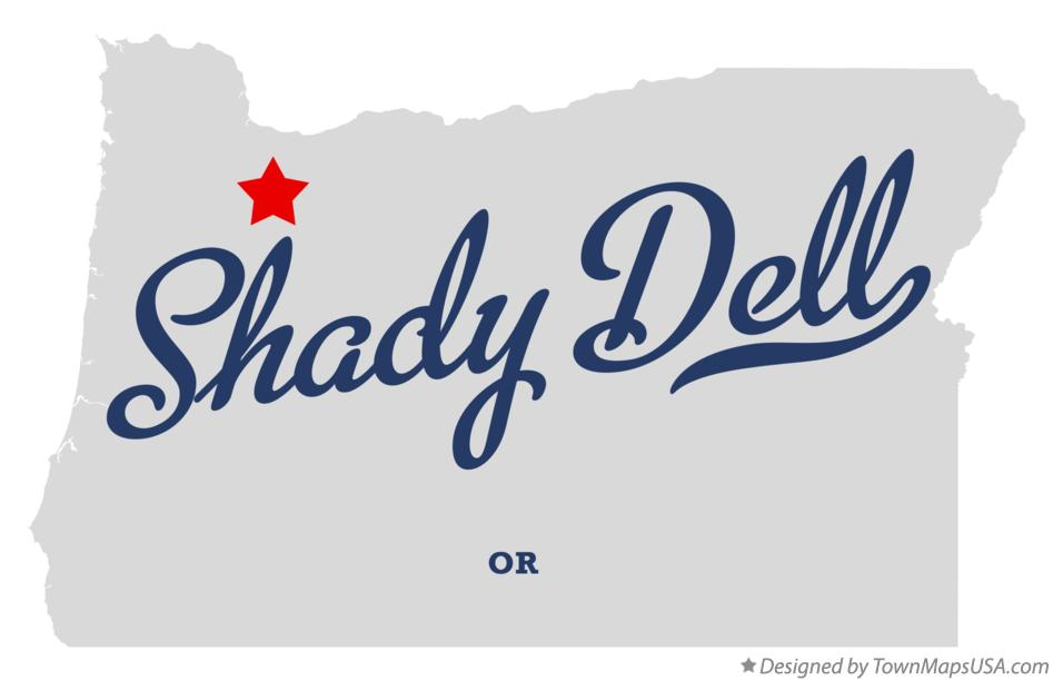 Map of Shady Dell Oregon OR