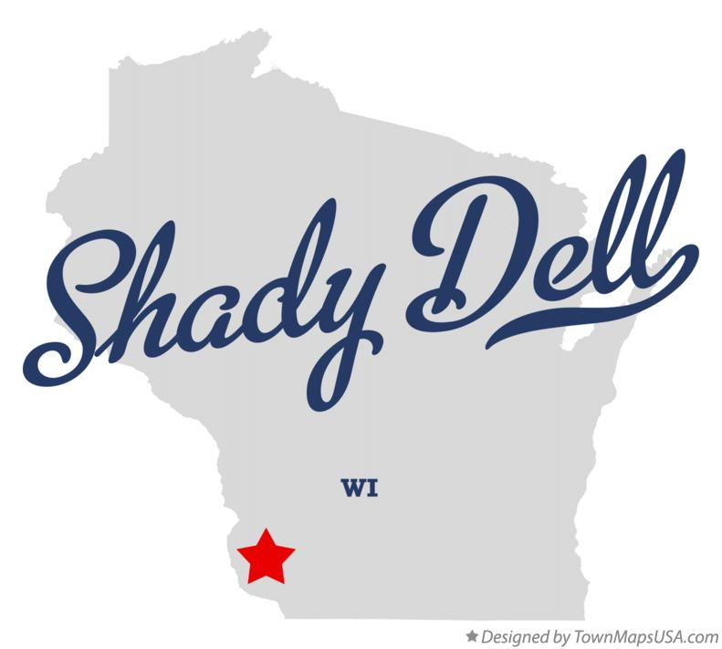 Map of Shady Dell Wisconsin WI