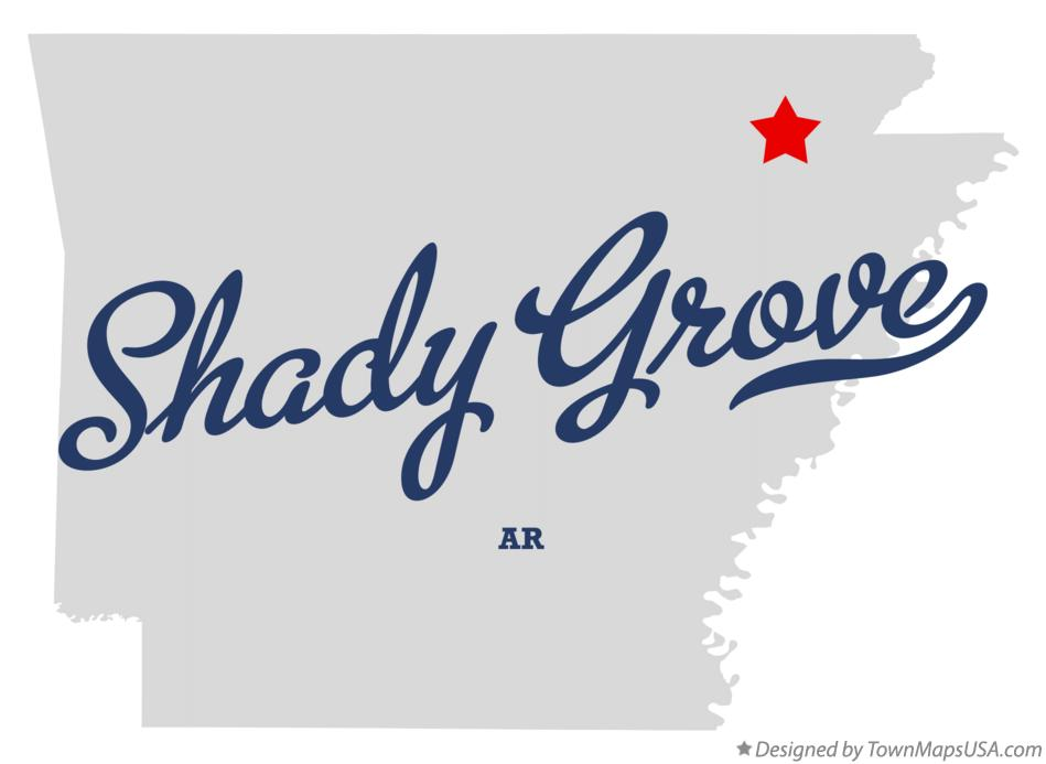 Map of Shady Grove Arkansas AR