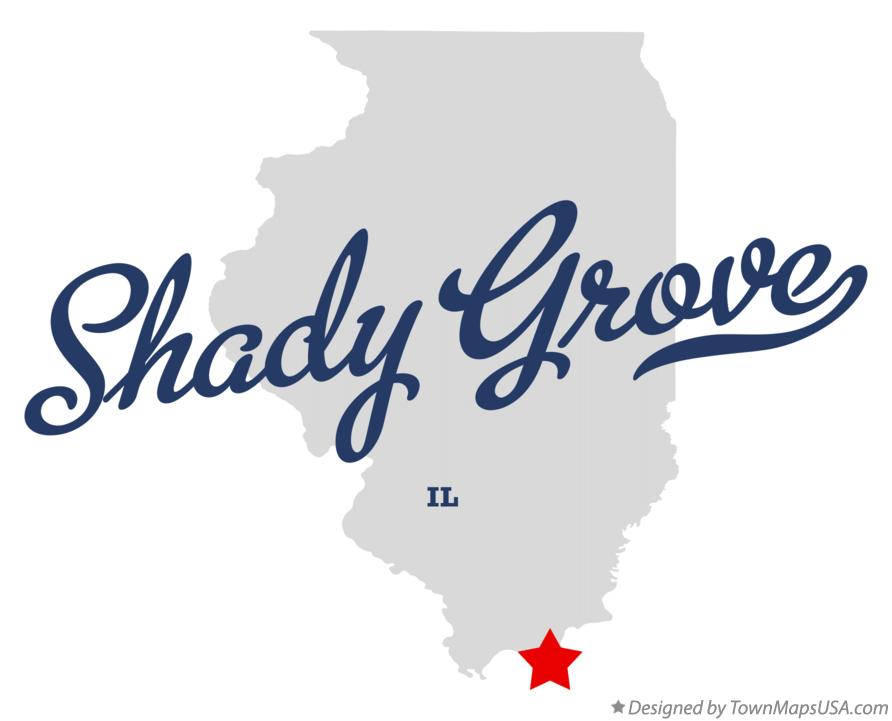 Map of Shady Grove Illinois IL